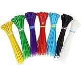 GODLOVEM - Fascette autobloccanti per cavi, in nylon, 10 cm, 420 pezzi, per interni ed esterni, giardino, ufficio, 7 colori