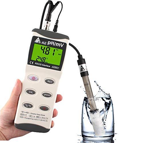 Kkmoon/Ph-007 Medidor de Ph/Tipo Pluma/con/Temperatura Auto/Compensaci/ón/Funci/ón Atc Calibraci/ón/y Lcd Retroiluminaci/ón/Probador Acidez/ Ph Port/átil//&Temp Calidad Del Agua