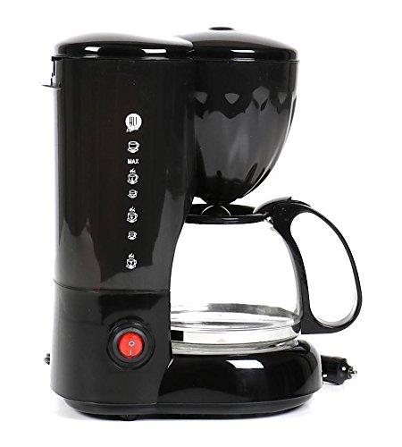 All Ride Kaffeemaschine 24 Volt 250 Watt, für LKW mit Glaskanne für 6 Tassen Kaffee