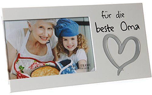 Bada Bing Bilderrahmen Fotorahmen Beste Oma 25 x 13 Herz Liebe Weiß Edel Geschenk 13