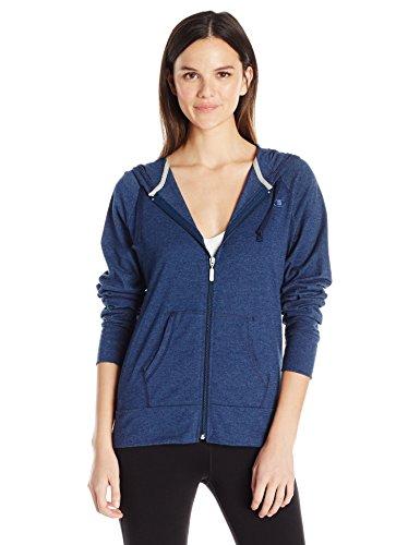Champion Women's Jersey Jacket, Midnight Vista Blue Heather, M