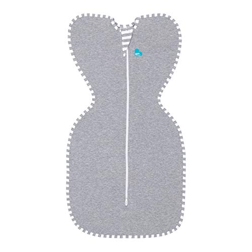 Love to Dream Swaddle UP, Gray, Newborn, 5-8.5 lbs, Dramatically Better Sleep, Allow Baby to Sleep in Their Preferred arms up Position for self-Soothing, snug fit Calms Startle Reflex