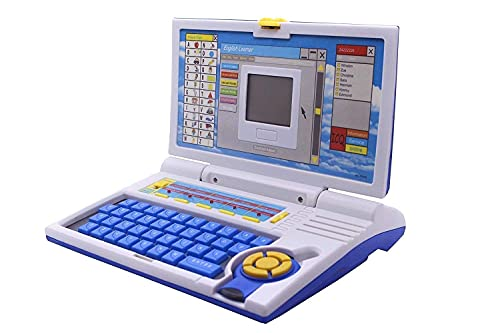 Prime Deals 20 Activities & Games Fun Laptop Notebook Computer Toy for Kids-Blue (Leaner Laptop)