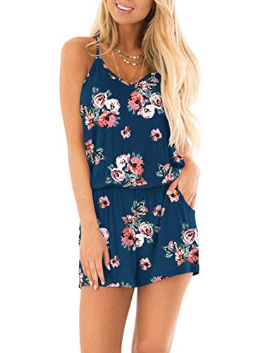 Spaghetti Strap Short Jumpsuit Rompers $17.99(50% Off)