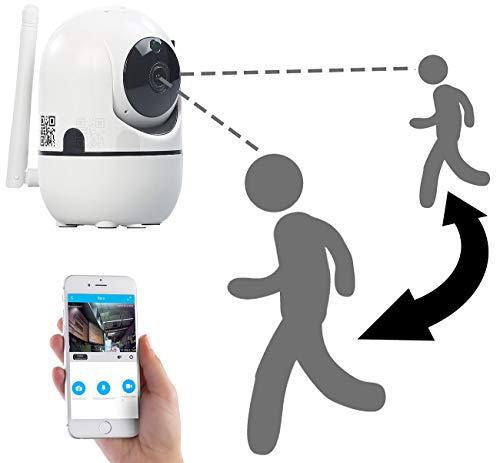7links WLAN Kamera: WLAN-IP-Überwachungskamera mit Objekt-Tracking & App, HD, 360° (Überwachungskamera innen)
