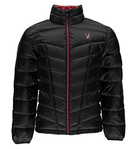 Spyder Pelmo Down Jacket, Black/Red, Medium