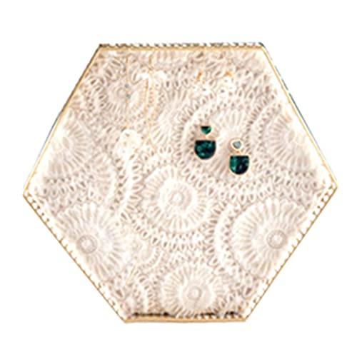 N\C Plato de la baratija del Anillo de Diamantes, Soporte de Madera de la exhibición de la joyería del Organizador de Pendientes, exhibición de la Caja con la Base de la Bandeja de la joyería LKWK