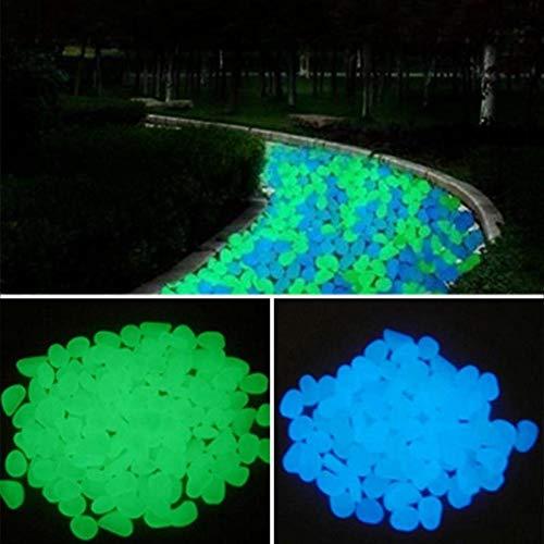 Lot de 200 galets colorés et fluorescents pour décorer jardins, passerelles, plantes, parterres et aquariums, vert