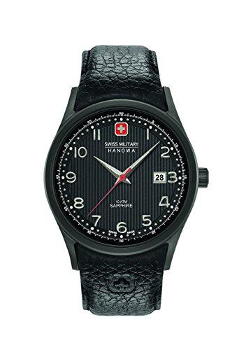 Swiss Military Hanowa Herren Analog Quarz Uhr mit Leder Armband 06-4286.13.007