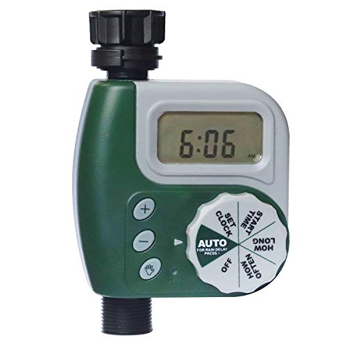 DEWINNER Hose Watering Timer, Digital Water Faucet, Garden Lawn Sprinkler Timer, Electronic Programmable Irrigation System,Rain Delay Controller