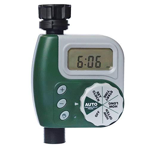DEWINNER Hose Water Timer, Digital Water Faucet Garden Lawn Sprinkler Irrigation Electronic Programmable Irrigation System, Rain Delay Controller