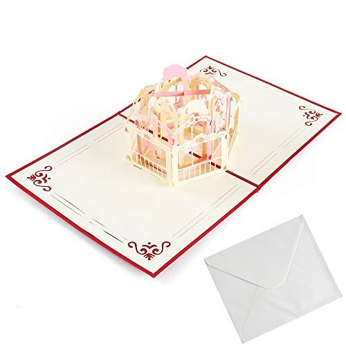 NACTECH Biglietti Giostre Auguri 3D Biglietto Pop Up Biglietti Auguri Compleanno per Augurazione di...
