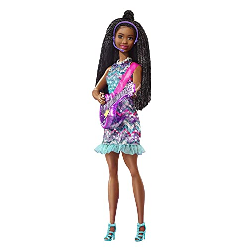 Barbie Brooklyn Muñeca afroamericana con guitarra de juguete y accesorios de música, regalo para niñas y niños +3 años (Mattel GYJ24)