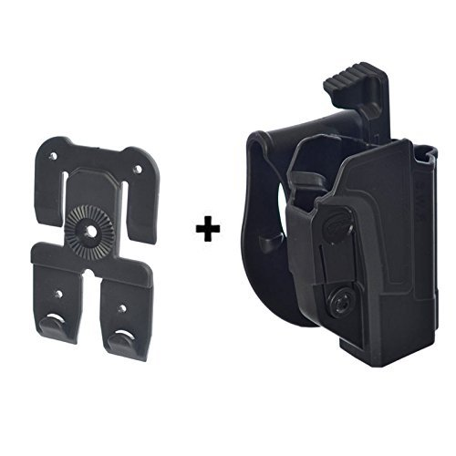 Orpaz Defense Retention ajustment ROTO Rotation Tactical Paddle Thumb Release Safety Holster + Molle Adapter for All Smith & Wesson S&W M&P 9mm.40.22 & .45, M2.0 in 9.40 & .45, SD9, SD40, SD9VE