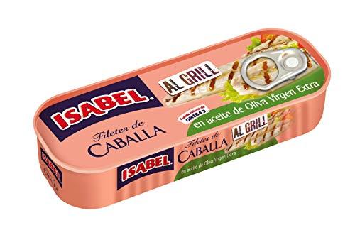Caja 14 uds x 120g Isabel Filetes de Caballa al Grill en Aceite de Oliva Virgen Extra