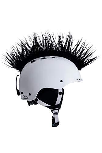 Crazy Ears Helm-Accessoires Irokese Mohawk Schwarz Weiß Pink Ski Snowboard, CrazyEars:Mohawk Schwarz