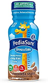 Pediasure Grow & Gain Kids' Nutritional Shake, With Protein, Dha, & Vitamins & Minerals, Chocolate, 8 Fl Oz, 16Count
