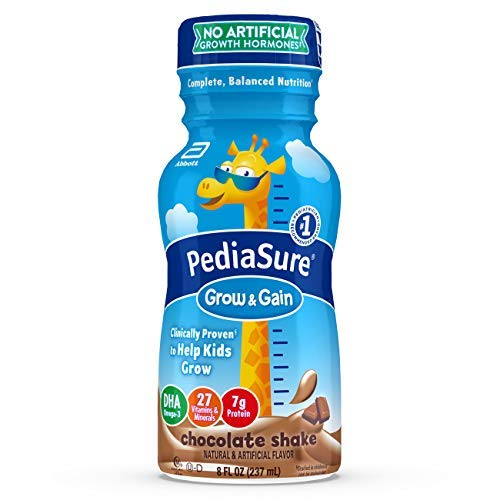 Pediasure Grow & Gain Kids' Nutritional Shake, with Protein, Dha, & Vitamins & Minerals, Chocolate, 8 Fl Oz, 16Count