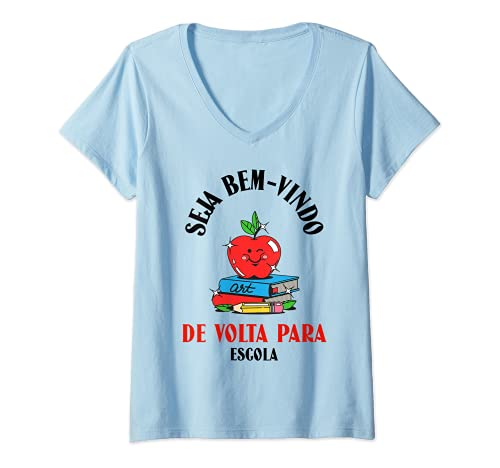 Damen Back to School - Portuguese T-Shirt mit V-Ausschnitt