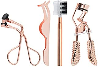 4 PCS Stainless Steel Eyelash Curlers Kit Eyebrow trimming set Professional Beauty Tools Eyebrow Brush Makeup Accessories ...