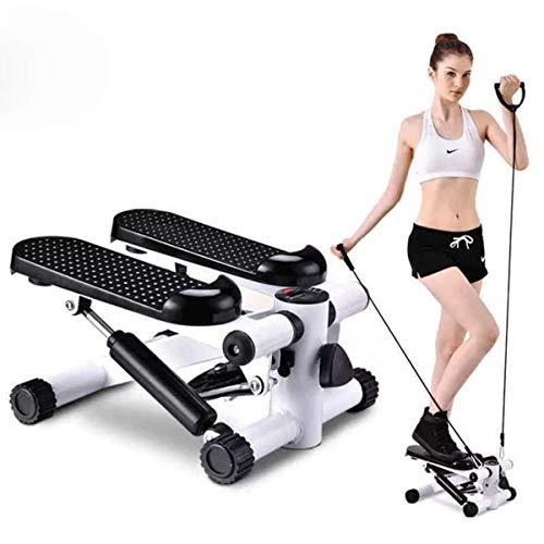 DSAEFG Mini Stepper, Step-up Stepper Fitness con computadora de Entrenamiento y peldaños Grandes Equipo de Ejercicios for piernas Abdominales Entrenamiento a Tope