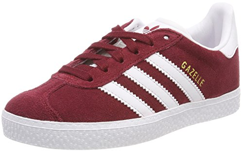 adidas Gazelle, Sneakers Basses Mixte Enfant, Multicolore (Collegiate Burgundy/FTWR White Cq2874), 37 1/3 EU