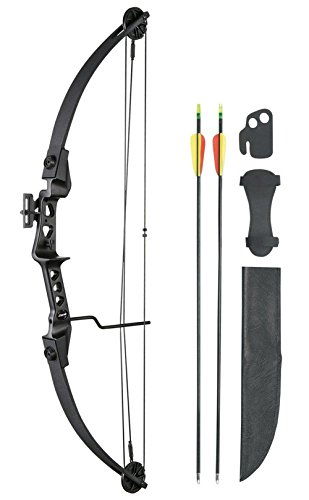 Leader Accessories Compound Bow Youth Bow 19-29lbs 24' - 26' Archery Hunting Equipment with Max...