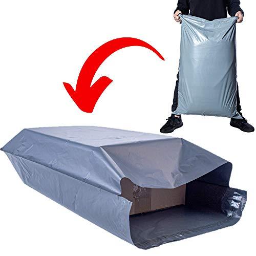 Duże torby pocztowe Calzette bardzo mocne polietylenowe szare koperty pocztowe do pakowania ubrań paczki samouszczelniające torby do przechowywania 61 cm x 96 cm duże opakowanie wykonane z recyklingowanych materiałów torba pocztowa opakowanie