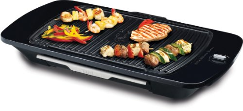 Emeril by T-fal CB6530003 Gourmet Griller with Removable Nonstick Die-Cast Aluminum Grill Plate, Silver