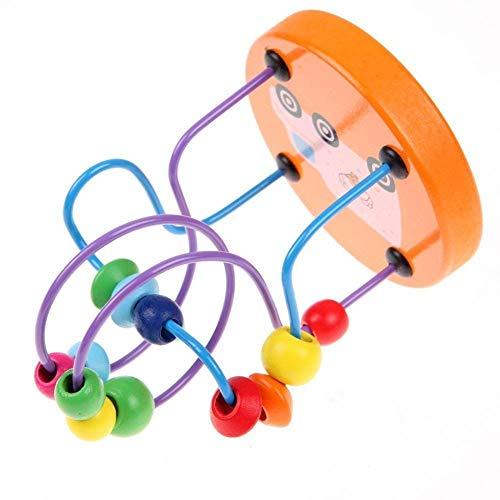 N-K Pulabo - Mini cuentas de madera para laberinto del árbol del abaco, juguete de sabiduría para bebés y niños pequeños, color aleatorio cómodo y práctico