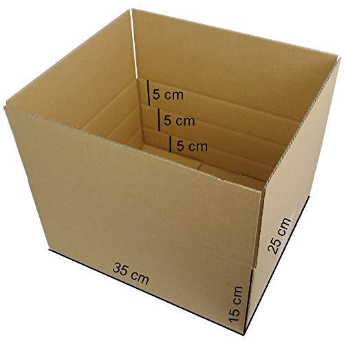 50 Stück Faltkartons Versandkartons optimiert für den Warenversand Kartonversand Aussenmaß: 350x250x150 mm