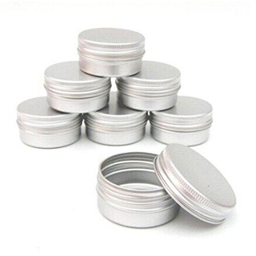 10pcs Balm Nail Art Cosmetic Cream Make Up Pot Lip Jar Tin Case Container Screw 15ml by FamilyMall