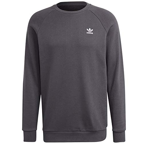 adidas GN3411 Essential Crew Pullover Mens Grey Five S