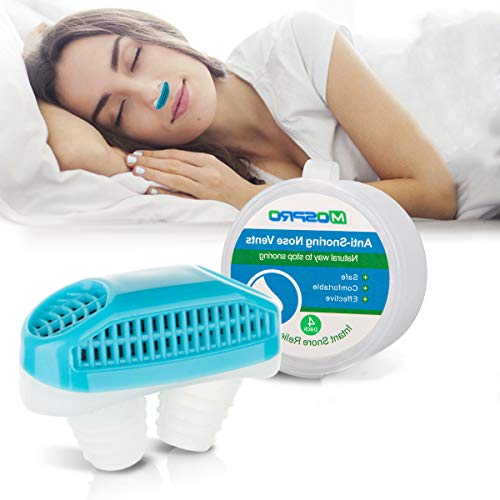 Anti Snoring Devices[Upgrade 2-in-1]Snoring Solution Snore Stopper Nose Vents Plugs Clip Air Purifier,Anti Snoring Devices Stop Snoring Sleep Aid...