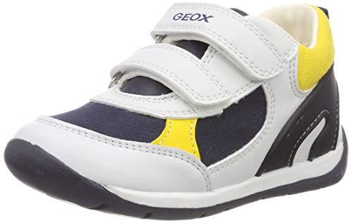 Geox B Each Boy D, Sandali a Punta Aperta Bambino, Bianco (White/Navy C0899), 24 EU
