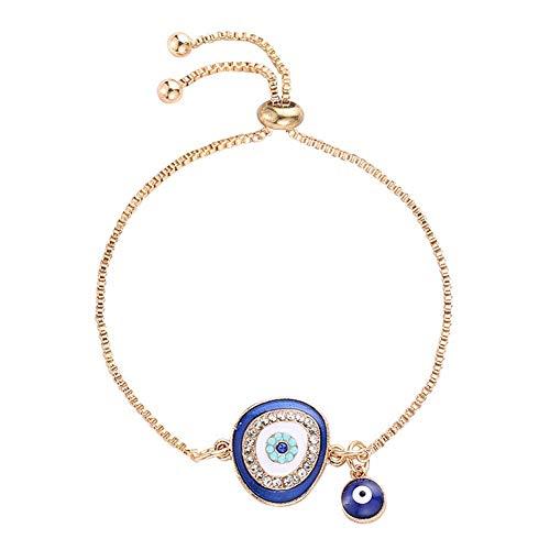 Nobrand Türkische Blau Kristall Böses Auge Armbänder Für Frauen Handgemachte Goldketten Lucky Schmuck Armband Frau Schmuck