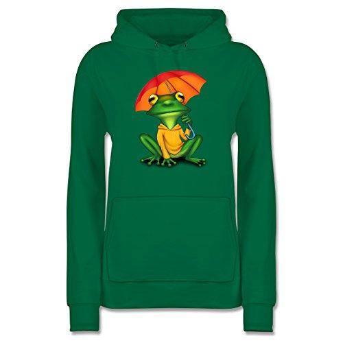 Sonstige Tiere - Wetterfrosch - XL - Grün - JH001F_Hoodie_Damen - JH001F - Damen Hoodie und Kapuzenpullover für Frauen