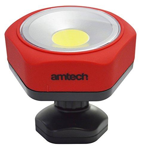 Amtech S8147 Base pivotante à LED COB lampe de travail, 3 W, clair