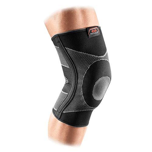 McDavid Elastic Compression Knee Sleeve with Gel Pad. 4-Way Elastic Brace with...
