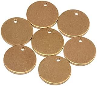 Chris.W 50pcs Brass Round Copper Stamping Blanks 2/5