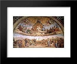 The Disputation of The Holy Sacrament 18x15 Framed Art Print by Raphael