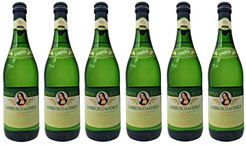 Lambrusco Weiss dolce Puglia Donna Elisa Caldirola IGT (6 X 0,75 L) - Vino Weisser Süßer 8% Vol. aus Italien