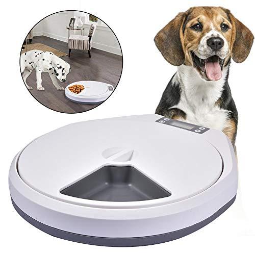 Dispensador automático de Comida Comedero para Mascotas con Compartimentos y Agua con Temporizador para Perros y Gatos