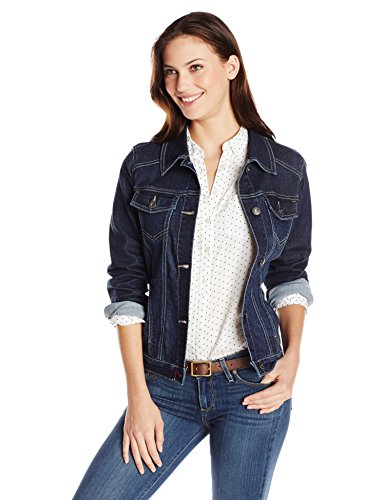 Wrangler Authentics Women's Stretch Denim Jacket, Drenched, Large