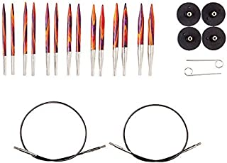 "Knit Picks Options 2-3/4"" Short Tip Interchangeable Wood Knitting Needle Set (Radiant)"