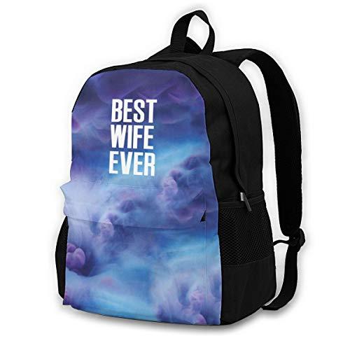 Travel Backpack Laptop Backpack Diaper Bag - Best Wife Ever Funny Backpack School Backpack for Women Men