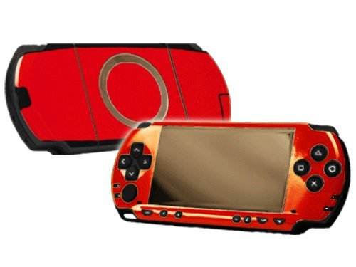 Rockin Red Vinyl Decal Faceplate Mod Skin Kit for Sony PlayStation Portable 1000 (PSP) Console by System Skins