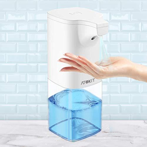 ATOKIT Dispenser automatico per disinfettante per le mani, 350 ml, a infrarossi, senza tocco, per cucina, WC, casa, ospedale