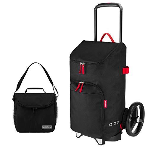 reisenthel citycruiser Rack + citycruiser Bag 45 l Einkaufstrolley schwarz + Mini Kühltasche