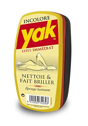 Yak - Esponja para Limpiar Zapatos, Incolora, pack de 4 unid